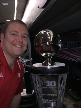 Jay with B1G trophies